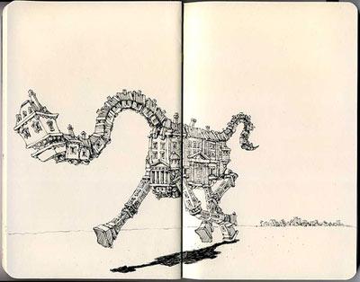 dessin-moleskine